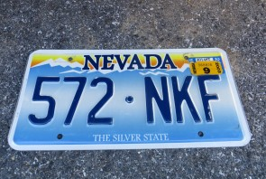 Nevada The Silver State Embossed License Plate 2003