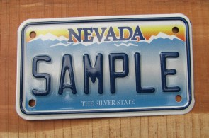 Nevada Motorcycle Sample License Plate The Silver State
