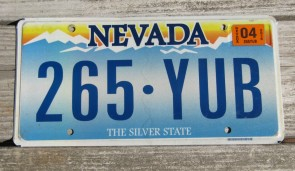 Nevada The Silver State License Plate 2015