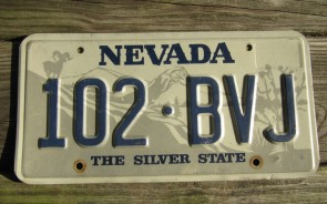 Nevada Big Horn Ram License Plate The Silver State