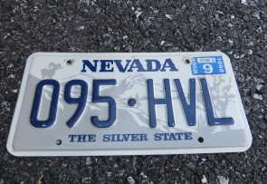 Nevada Big Horn Ram License Plate 1998 The Silver State