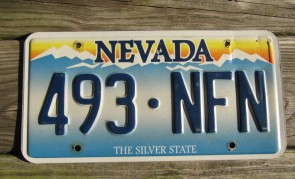 Nevada The Silver State Embossed License Plate