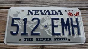 Nevada Big Horn Ram License Plate The Silver State 1993