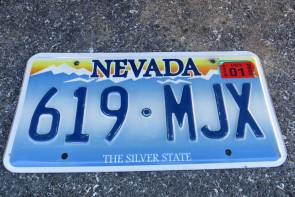 Nevada The Silver State Embossed License Plate 2005