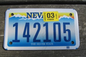 Nevada Motorcycle License Plate The Silver State 2013