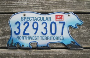 Canada North West Territories Polar Bear License Plate 2014