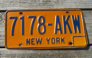 New York Statue of Liberty License Plate 1990's