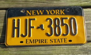 New York Yellow Gold License Plate The Empire State