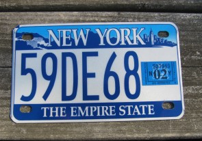 New York Motorcycle License Plate The Empire State 2002