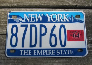 New York Motorcycle License Plate The Empire State 2004
