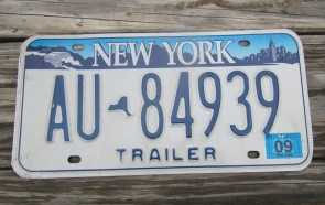 New York Statue Empire State Trailer License Plate 2009