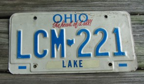 Ohio The Heart of It All License Plate 1990s