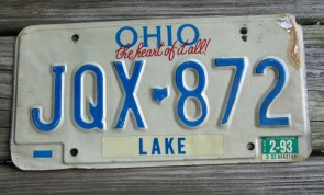 Ohio The Heart of It All License Plate 1993