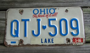 Ohio The Heart of It All License Plate 1996