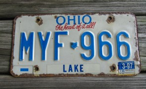 Ohio The Heart of It All License Plate 1997