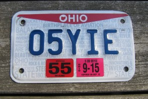 Ohio Motorcycle License Plate Birthplace of Aviation Pride 2015