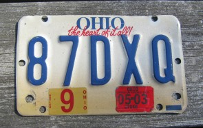Ohio Motorcycle License Plate The Heart of It All 2003