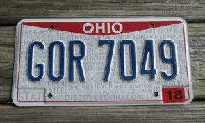 Ohio Pride License Plate Birth Place of Aviation