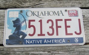 Oklahoma Arrow Shooter Native America License Plate 2017