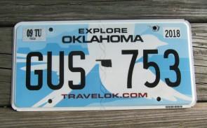 Oklahoma White Dove License Plate Travel OK 2018