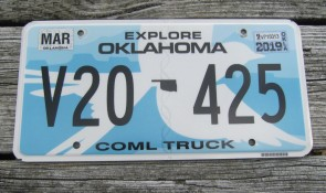 Oklahoma White Scissor Tail Bird License Plate Travel OK 2019