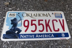 Oklahoma Arrow Shooter Native America License Plate 2014