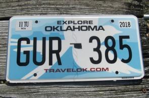 Oklahoma White Scissor tail Bird License Plate Travel OK 2018