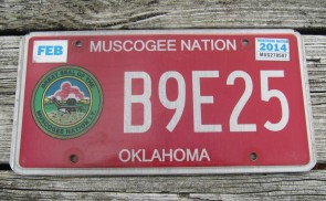 Oklahoma Muscogee Nation License Plate Indian Tribal 2014