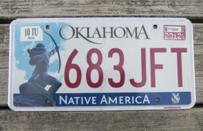 Oklahoma Cherokee Nation License Plate Indian Tribal 2016