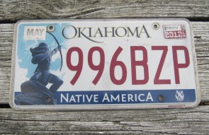Oklahoma Arrow Shooter Native America License Plate 2012