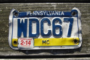Pennsylvania Motorcycle Visit PA Style License Plate 2014