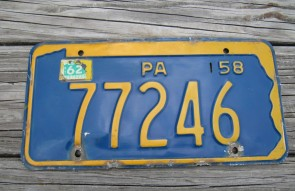 Pennsylvania State Shaped License Plate 1962