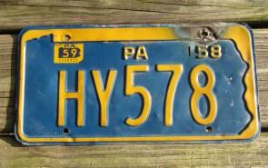 Pennsylvania Penna Keystone License Plate 1959