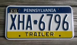 Pennsylvania Visit PA Trailer License Plate 2013