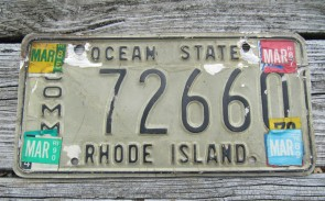 Rhode Island Ship Anchor License Plate 1990