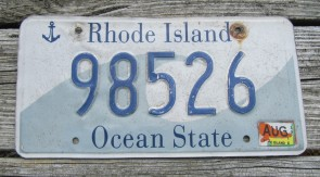 Rhode Island Wave License Plate Ocean State 2016