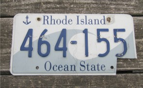 Rhode Island Wave License Plate Ocean State 2001