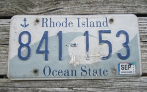 Rhode Island Wave License Plate Ocean State 2017