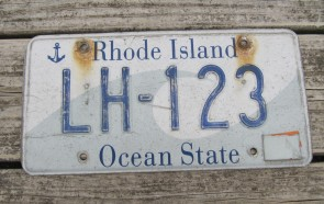 Rhode Island Wave License Plate Ocean State