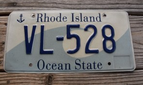 Rhode Island Wave License Plate Ocean State