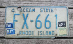 Rhode Island Blue White License Plate Ocean State 1997