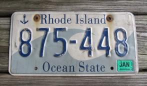 Rhode Island Wave License Plate Ocean State 2014