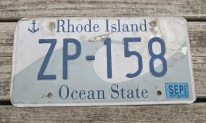 Rhode Island Wave License Plate Ocean State 2005