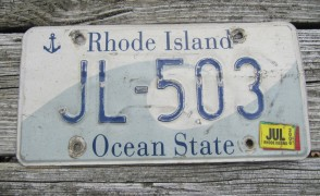 Rhode Island Wave License Plate Ocean State 2006