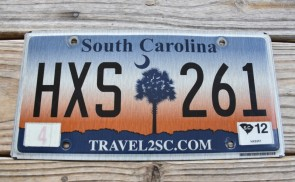 South Carolina Travel 2 SC Sunset License Plate 2012