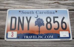 South Carolina Travel 2 SC Sunset License Plate 2010