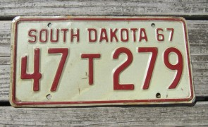 South Dakota Great Faces Great Places License Plate 2000's