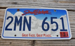 South Dakota Great Faces Great Places License Plate 2011