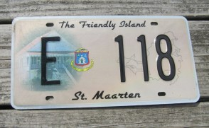 ST Maarten The Friendly Island License Plate 2010