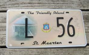 ST Maarten The Friendly Island License Plate 2010